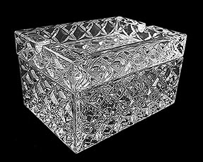 Crystal Ash Tray / Jewelry Box