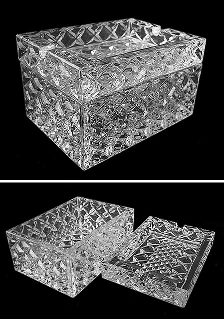 Crystal Jash tray / cigarette box