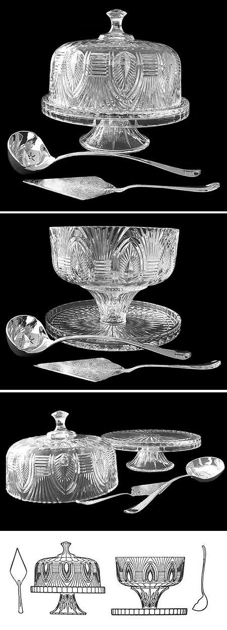 Reversible Crystal Punch Bowl and Cake Stand G004 (Image)